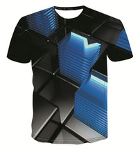Load image into Gallery viewer, New geometric graphic fashion T-shirt men's