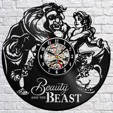 Load image into Gallery viewer, Beauty and Beast Wall Clock