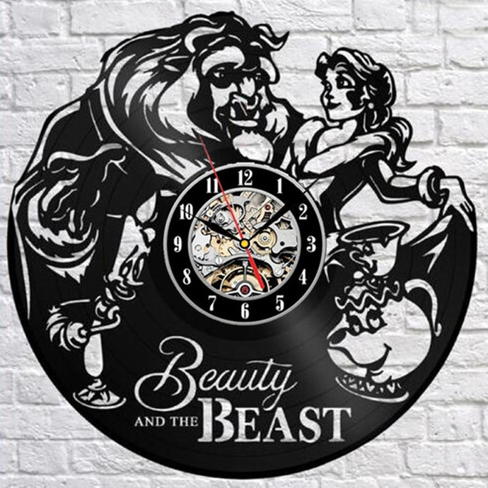 Beauty and Beast Wall Clock