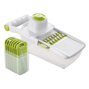 Kitchen Manual Vegetable Cutter Slicer 8 One Stainless Steel Interchangeable Blades