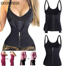Load image into Gallery viewer, Corset Back Shoulder Strap Waist Trainer Zipper Hook Body Shaper
