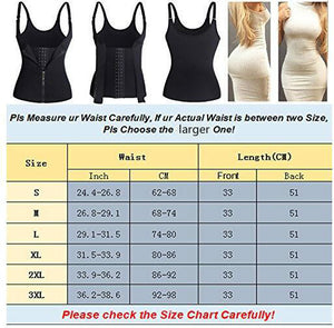 Corset Back Shoulder Strap Waist Trainer Zipper Hook Body Shaper