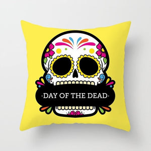 Sugar Skull Printed Cushion Cover Pillow Case