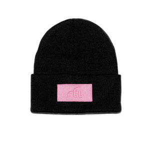 Open image in slideshow, rfi knitted cuffed toque [black] - rfi apparel