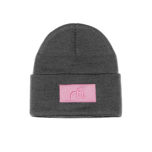 Open image in slideshow, rfi knitted cuffed toque [grey] - rfi apparel