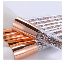 Load image into Gallery viewer, 8 Pcs Glitter Diamond Makeup Brushes