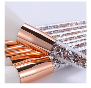 8 Pcs Glitter Diamond Makeup Brushes