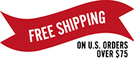 Free Shipping on Domestic Orders Over $75