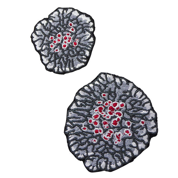 Embroidered Lichen Patches - Vanessa Gelvin  - 1