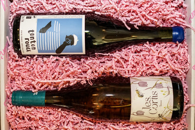 Two Bottles of Natural Wine: One White & One Red