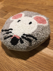 coussin mimi souris punch needle