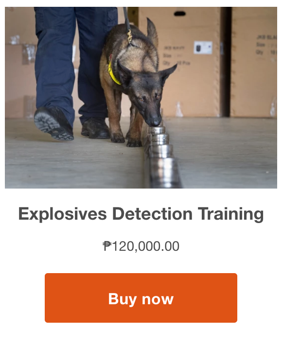 buy explosive detection training