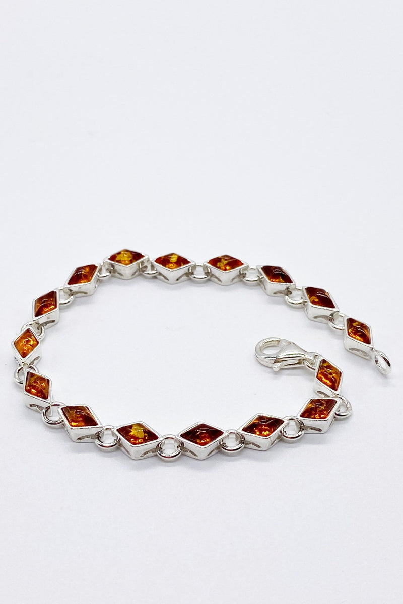 Baltic Amber Diamond Link Bracelet - L'Atelier Global