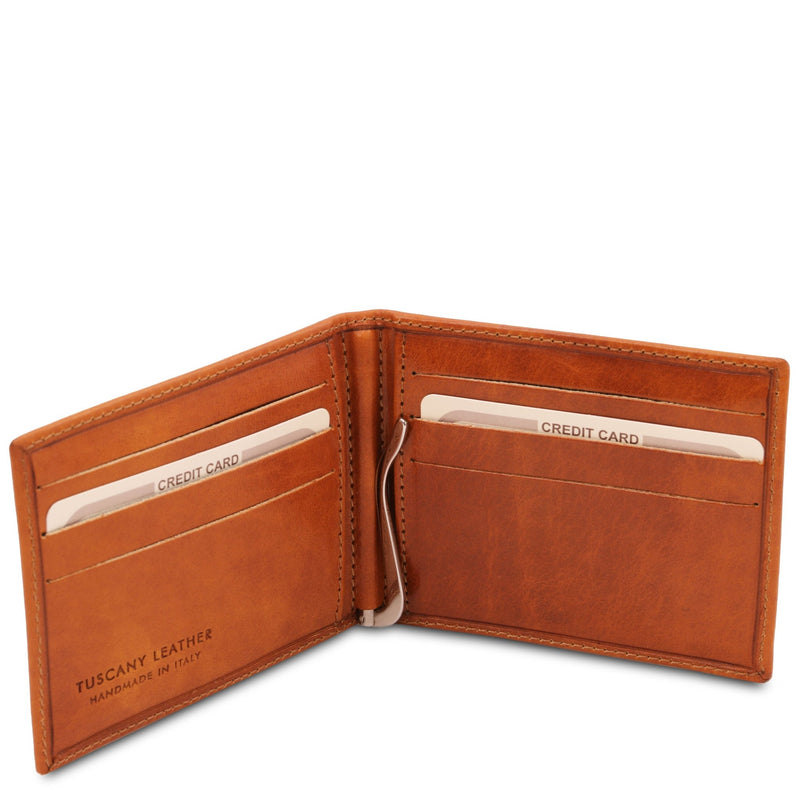 Exclusive Leather Card Holder With Money Clip - L'Atelier Global