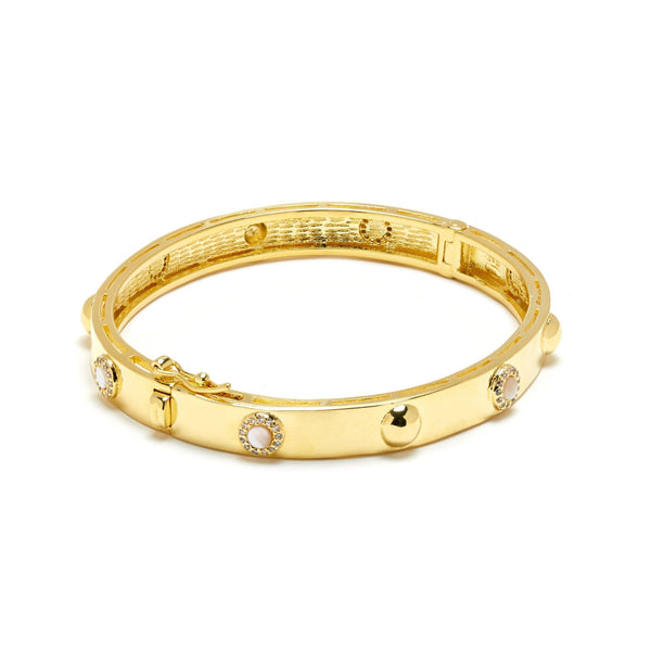 Gold Dazzle Mother of Pearl Bangle - L'Atelier Global