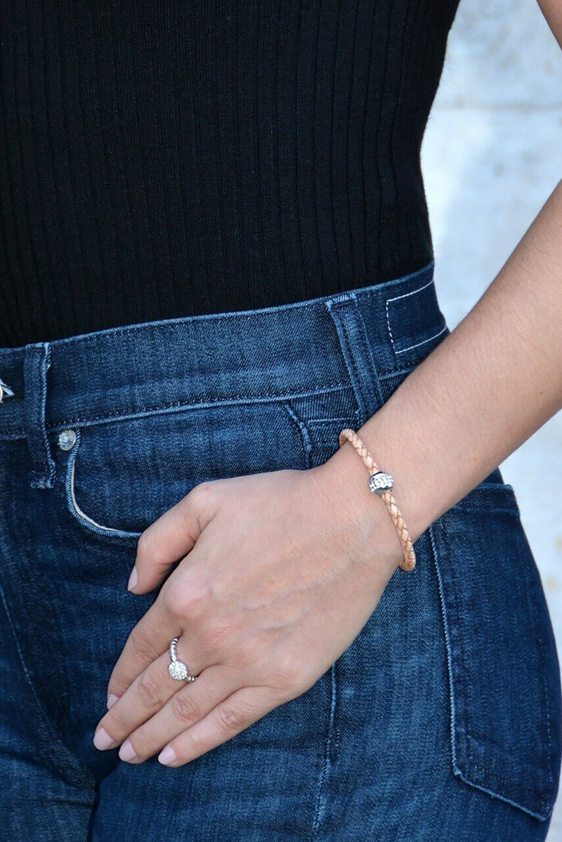 Good Karma Gold Bracelet in Tan - L'Atelier Global