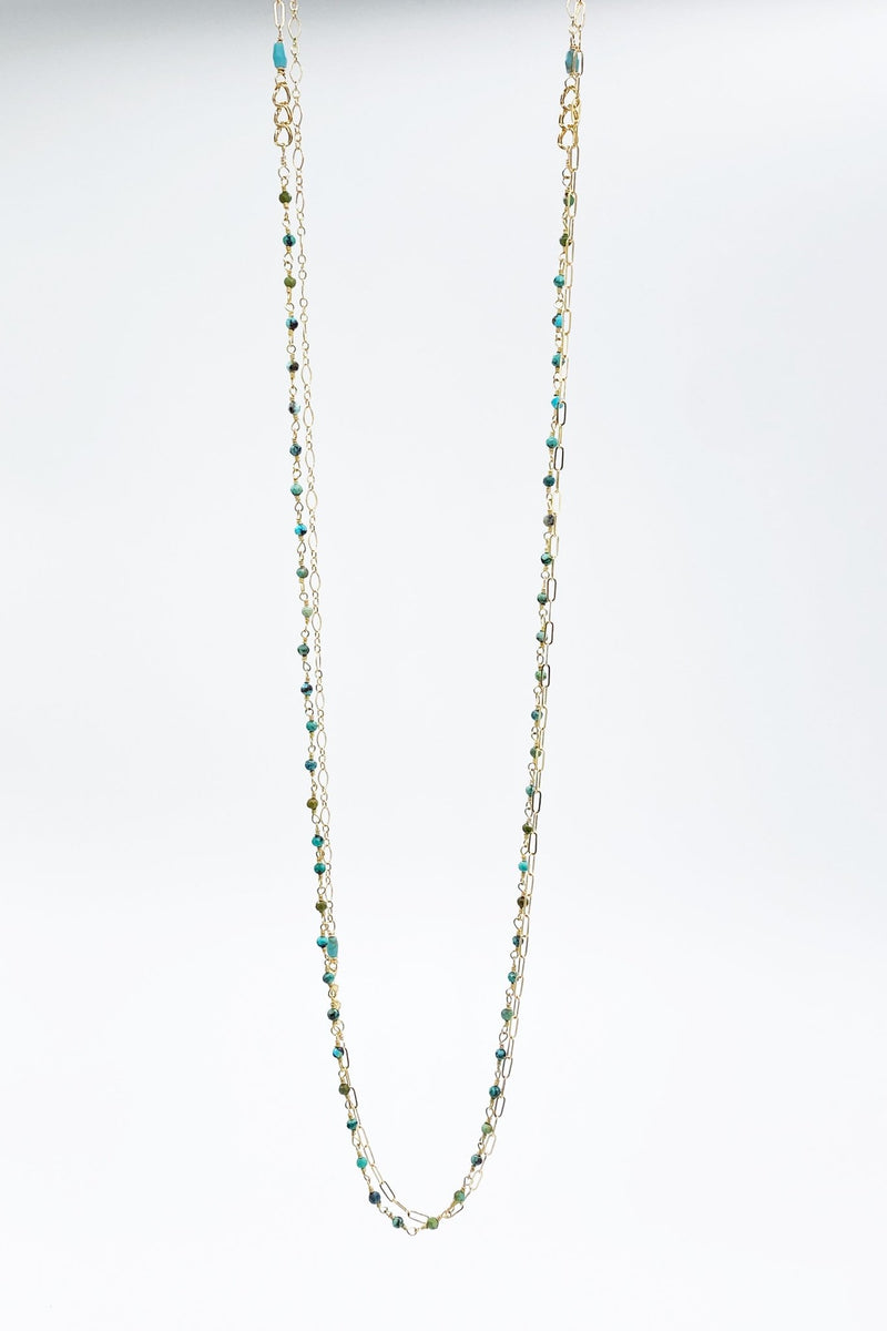 Green Turquoise Mixed Chain Necklace - L'Atelier Global