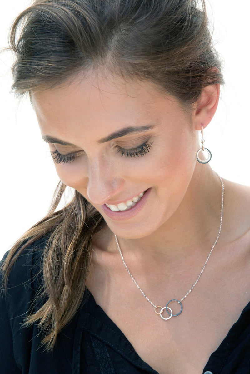 Hammered Circles Story Necklace - L'Atelier Global