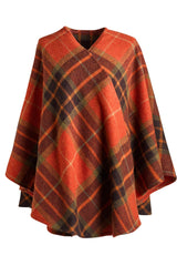 Harvest Tartan Ruana Wrap - L'Atelier Global