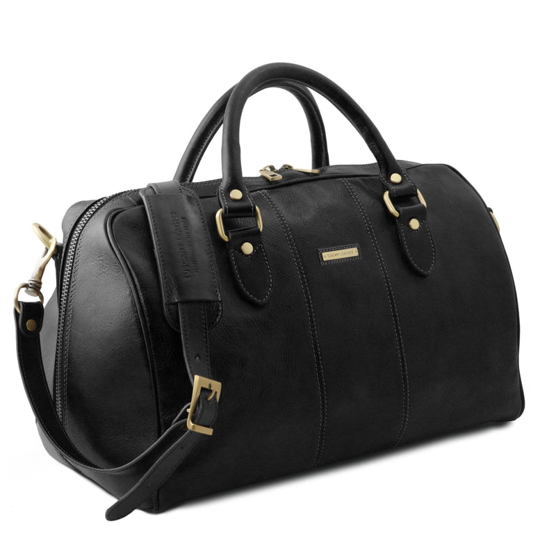 Lisbona Travel Leather Duffle Bag - Small size - L'Atelier Global