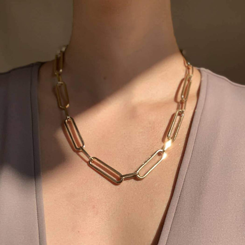 Minimalist Paperclip Chain Necklace - L'Atelier Global