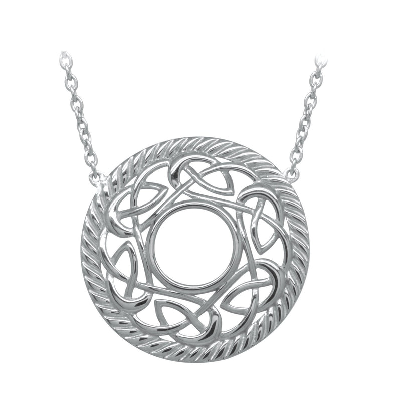 Open Knot Sterling Silver Necklace - L'Atelier Global