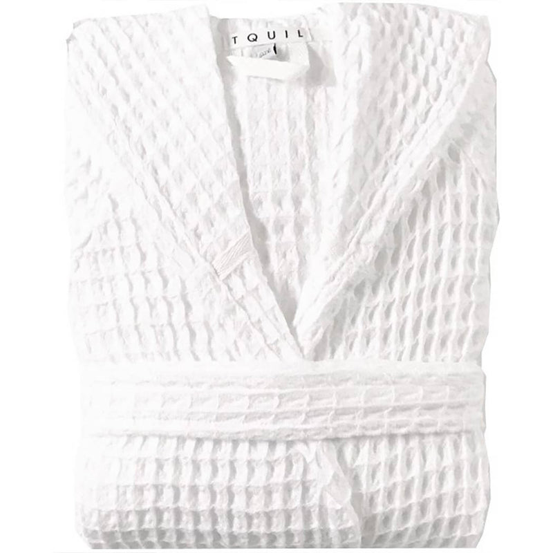 Turkish Cotton Waffle Weave Hooded Robe - L'Atelier Global