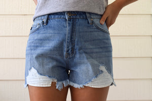 Lane Medium Wash Denim Shorts