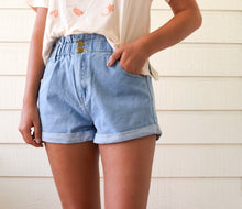 Load image into Gallery viewer, Paperbag Denim Shorts