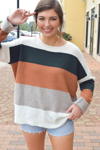 Multi Color-Block Sweater