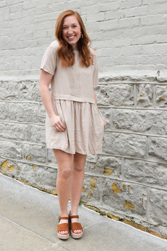 Palm Beige Dress