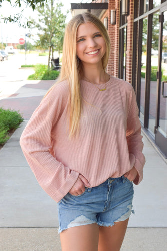 Cozy Up Blush Sweater