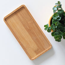Load image into Gallery viewer, Natural Bamboo Vanity Tray