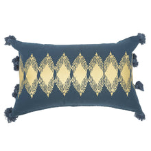 Load image into Gallery viewer, Adah Recycled Cotton Gold Printed Cushions