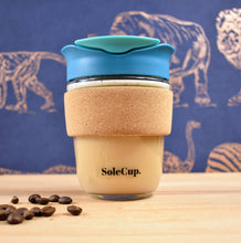 Load image into Gallery viewer, SoleCup Loose Tea Travel Mug with Cork Band - 340ml (12 Oz) with Tea Infuser