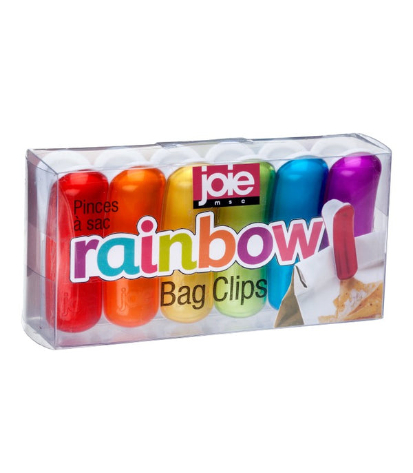 Rainbow Bag Clips 6 pc Giftbox