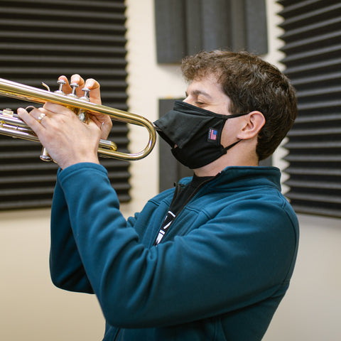 Bell Barrier Face Mask for Wind and Brass Instruments