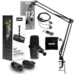 Shure MV7K Podcasting Bundle with Boom Arm and Earbuds