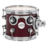 "Drum Workshop 8"" x 7"" Design Series Maple Rack Tom - Cherry Stain - New,Cherry Stain"