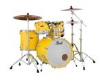 "Pearl Decade Maple 5 Piece Drum Shell Pack w/ 22"" Kick - Solid Yellow - New,Solid Yellow"