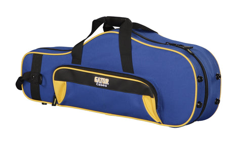 Gator GL-ALTOSAX-YB Spirit Series Lightweight Alto Saxophone Case, Yellow And Blue