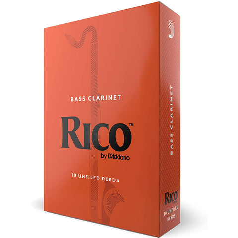 Rico Bass Clarinet Reeds, 10 Pack - Size 2 1/2