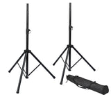 Rok-It Tripod Base Speaker Stand Set Pair W/ Bag