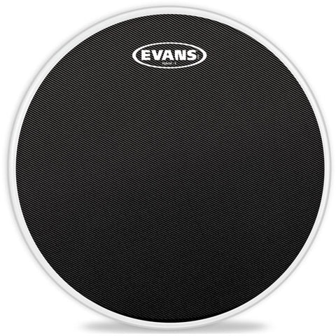 "Evans 14"" Hybrid-S Black Marching Snare Drum Head"