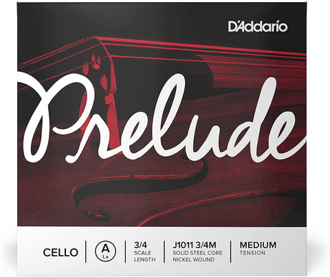 D'Addario Prelude Single Cello A String - 3/4 Scale Medium Tension