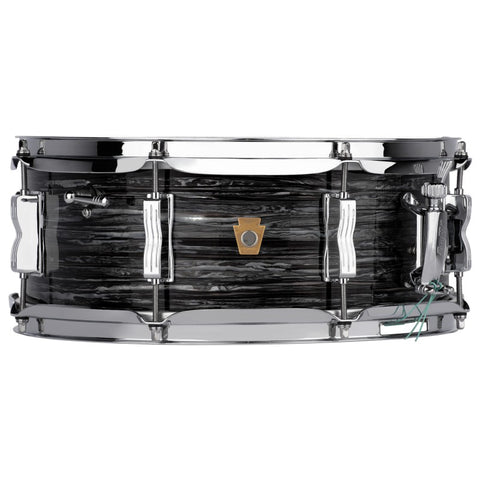 "Ludwig 14""x5.5"" Legacy Mahogany Jazz Fest Snare Drum - Vintage Black Oyster - New,Vintage Black Oyster"