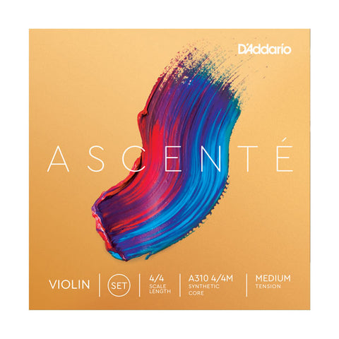 D'Addario Ascenté Violin String Set - Medium Tension - New,4/4