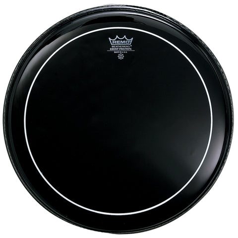 "Remo 6"" Ebony Pinstripe Drum Head - New,6 Inch"