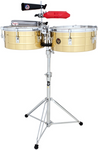 "LP LP257-B Tito Puente 14"" And 15"" Timbales, Brass"
