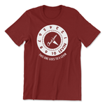 "Chuck Levin's ""E-Levin"" T-Shirt - Burgundy, Small - New,S"